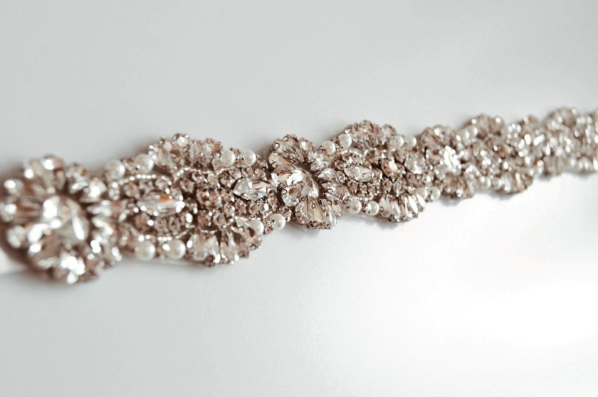 PBB1012 – diamante, pearl & seed bead bridal belt on ribbon sash (4)