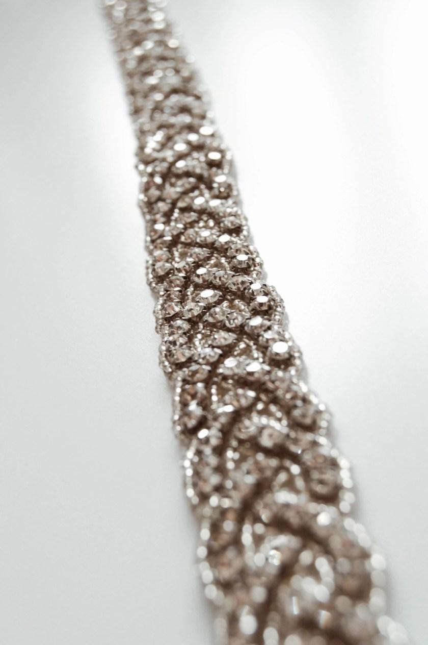 PBB1019 – plaited diamante bridal belt on ribbon sash (4)