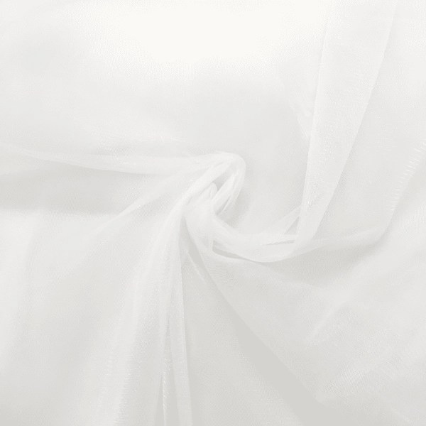 pale ivory italian style tulle square