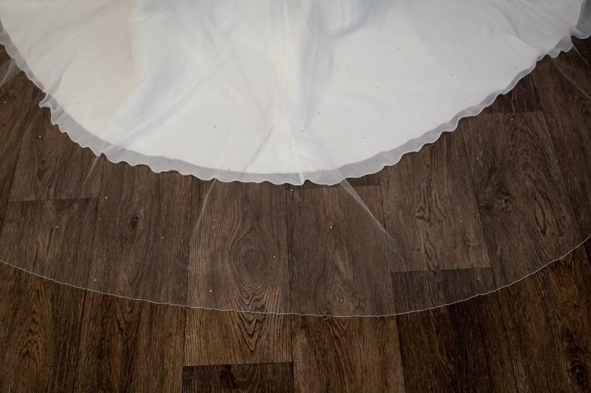 Bianca - single layer chapel length veil with diamantes detail
