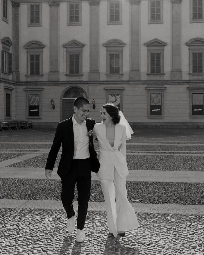 Charlie veil on real bride Natalia in Milano 2