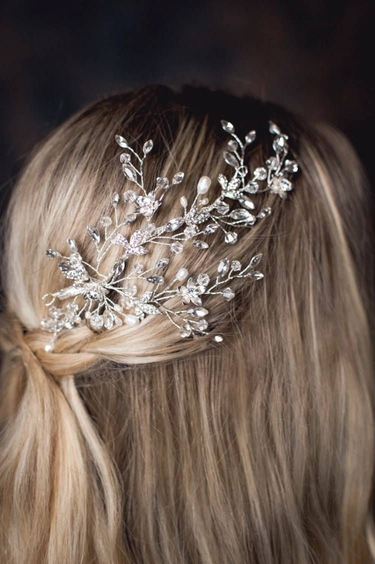 Stardust - crystal, pearl & diamante bridal headpiece TLH3104