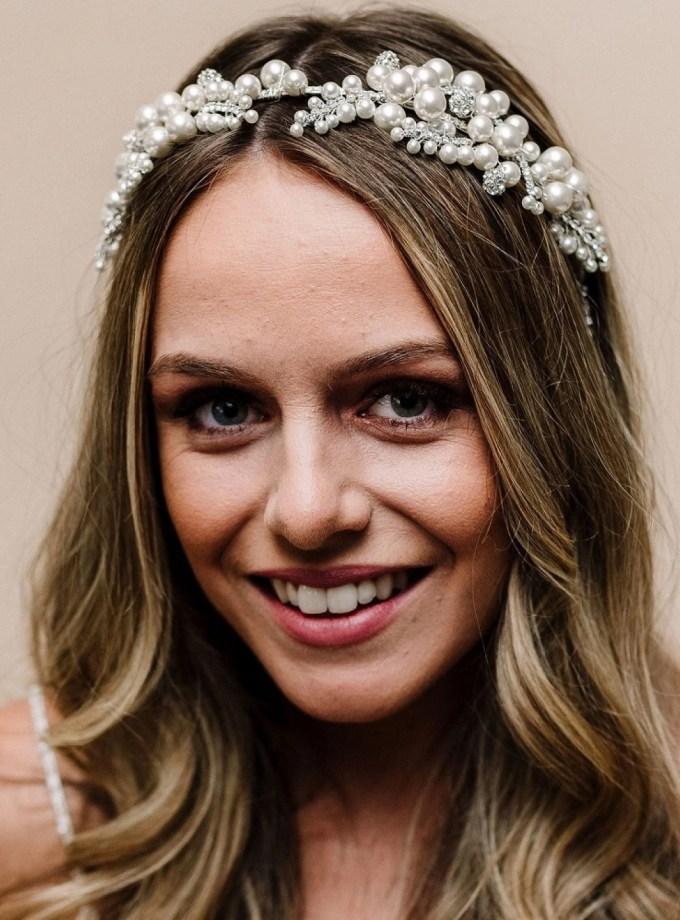 arianna odile vintage chunky pearl crystal headband ar621
