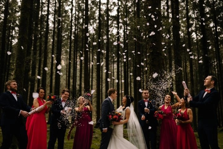 featured wedding - one fab day - bride caroline - photos art wedding photography - veil one layer beaded pencil chapel floor