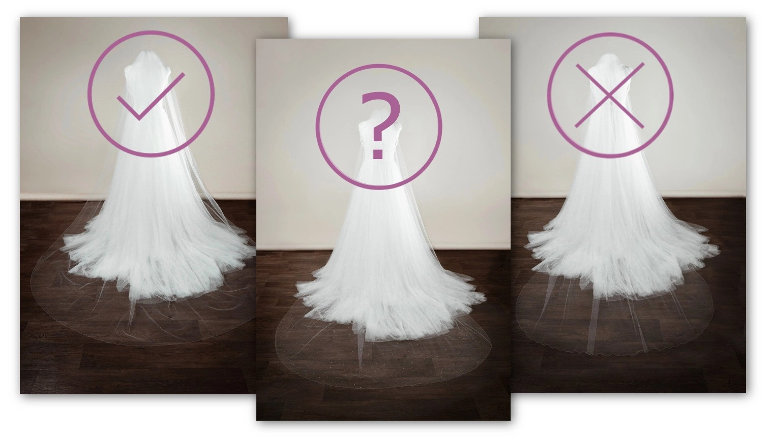 choosing the right veil width for your wedding dress