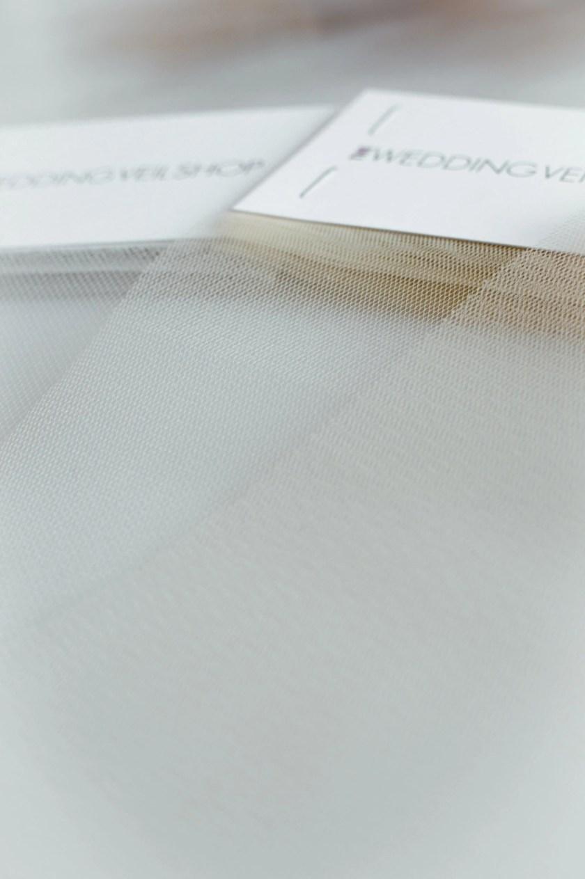 Deeper colours veil tulle samples closeup