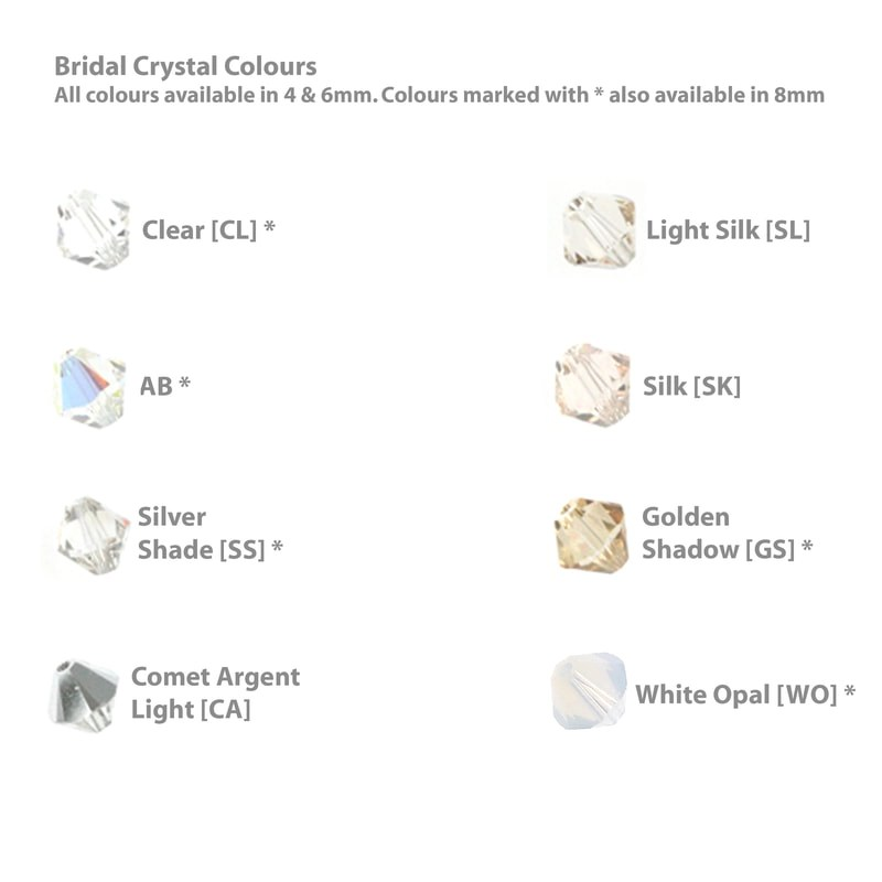 bridal hair accessories crystal colours
