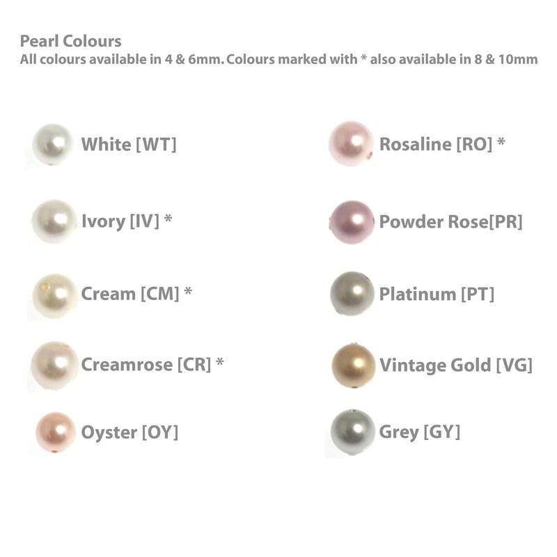 wedding hair accessories pearl colours