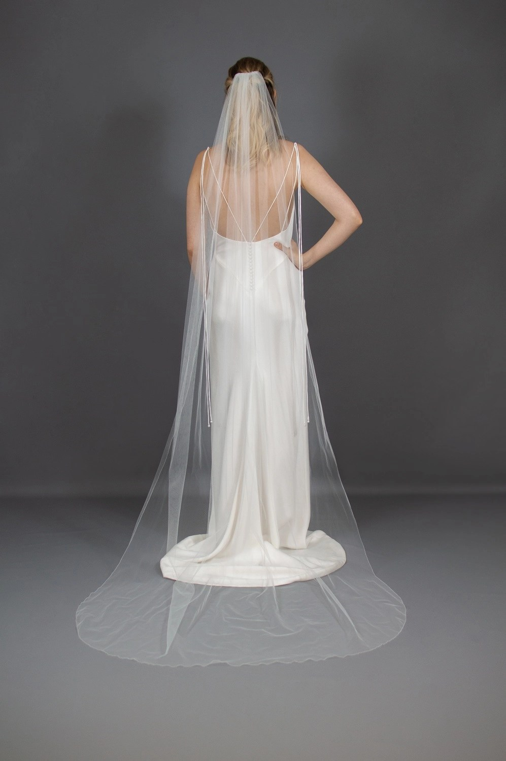 Wedding veil widths long one layer 54 inches wide