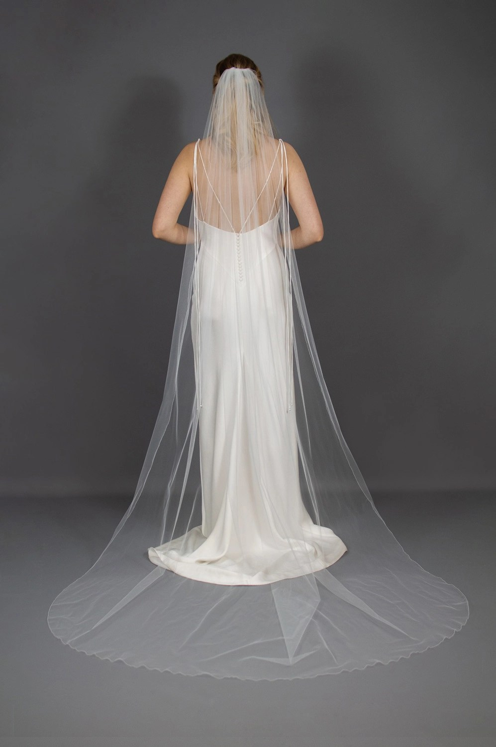 Wedding veil widths long one layer 72 inches wide