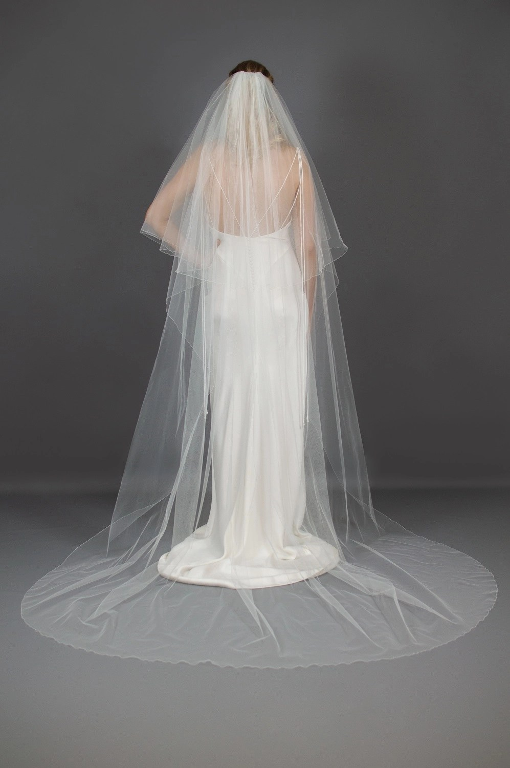 Wedding veil widths long two layer 108 inches wide