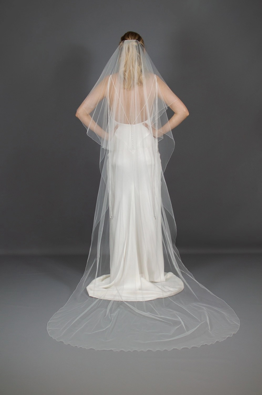 Wedding veil widths long two layer 54 inches wide