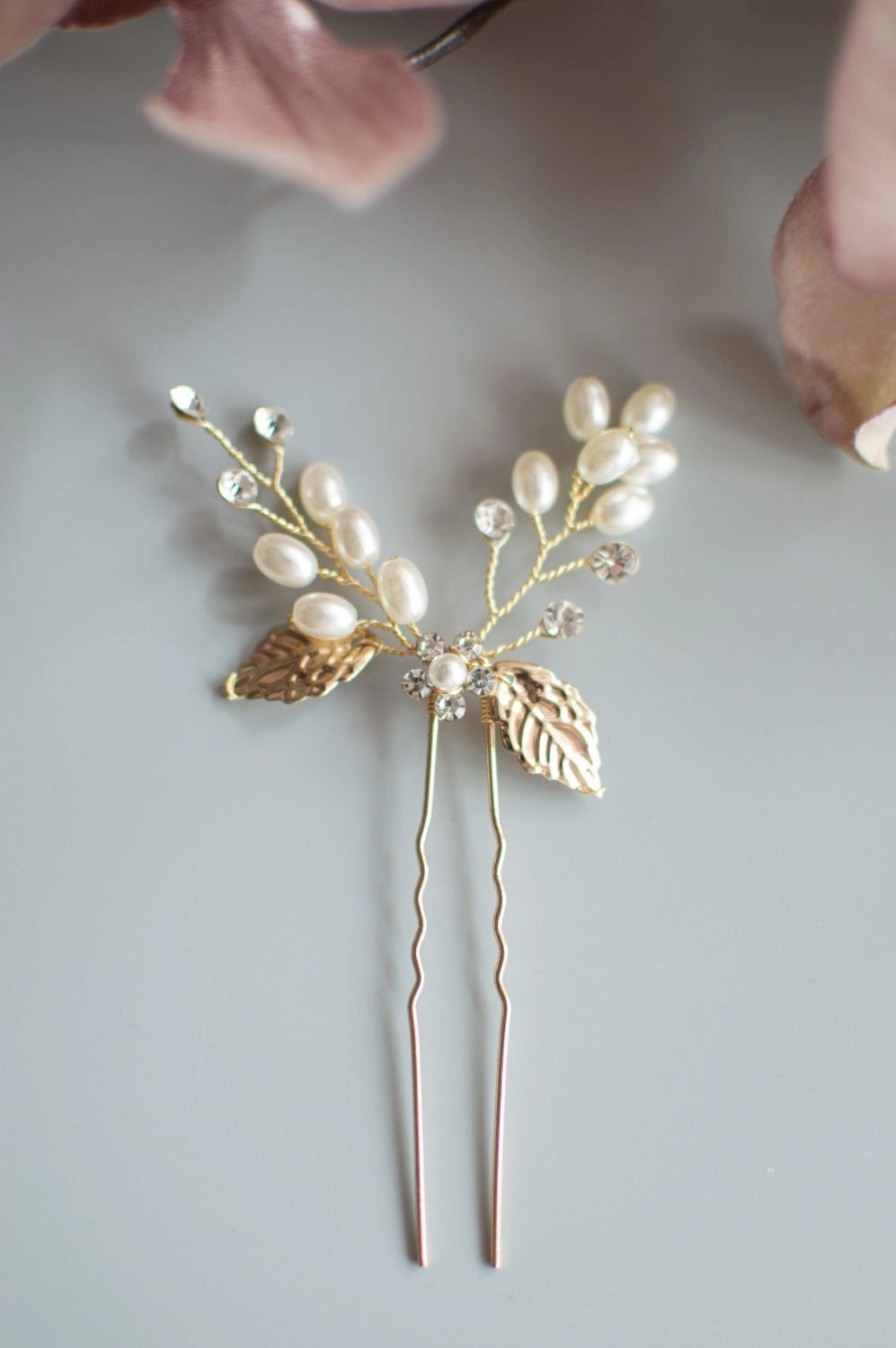 HP4649 gold bridesmaids hair accessories