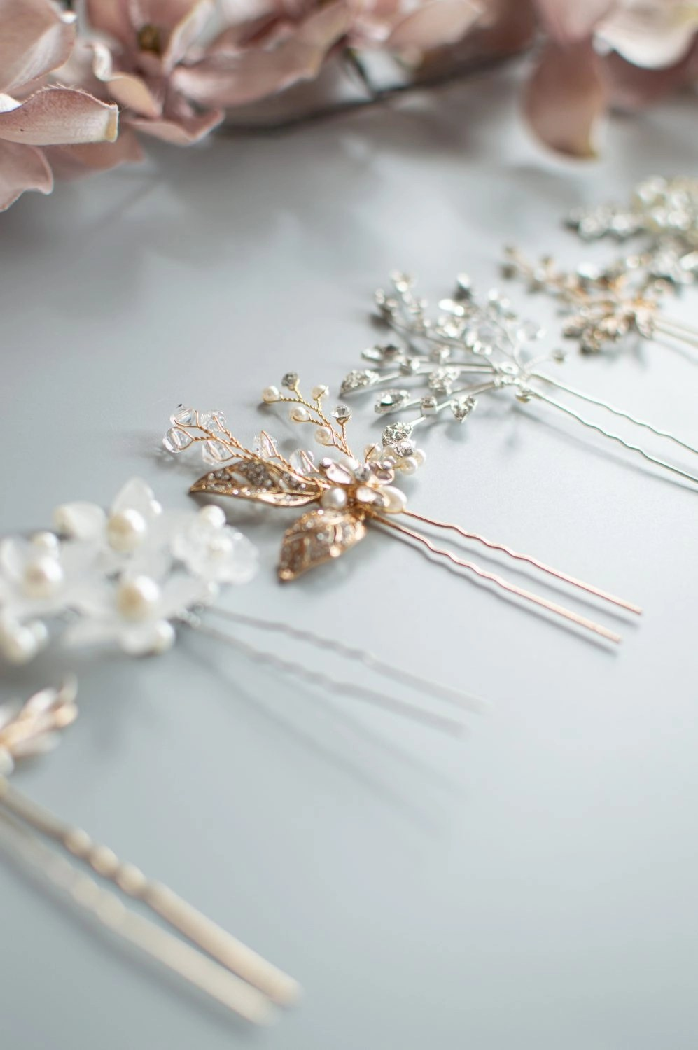 Row of hair pins