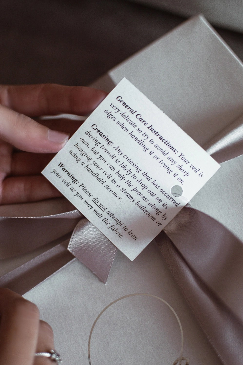 wedding veil care instructions