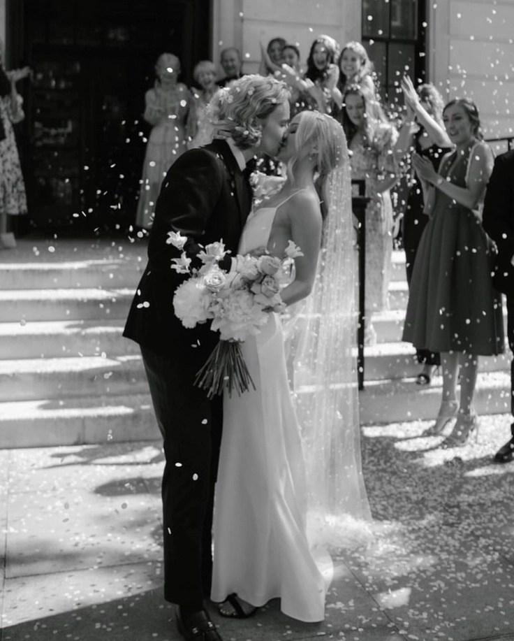 Custom chapel length Violet pearl veil on real bride Phoebe 13