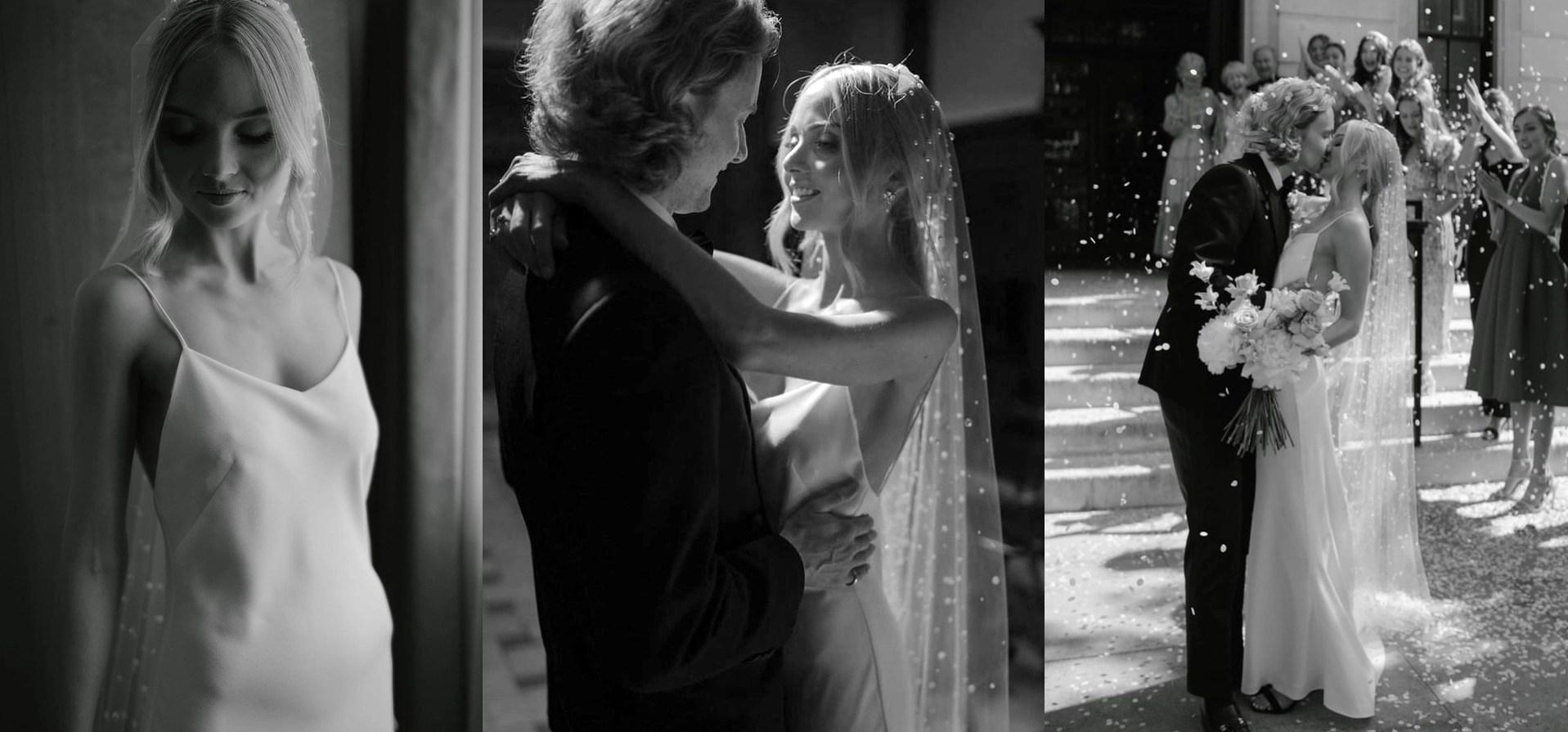 pearl veil real bride phoebe