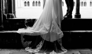 Real Bride Derrina: A Cathedral Veil For A Cathedral Wedding