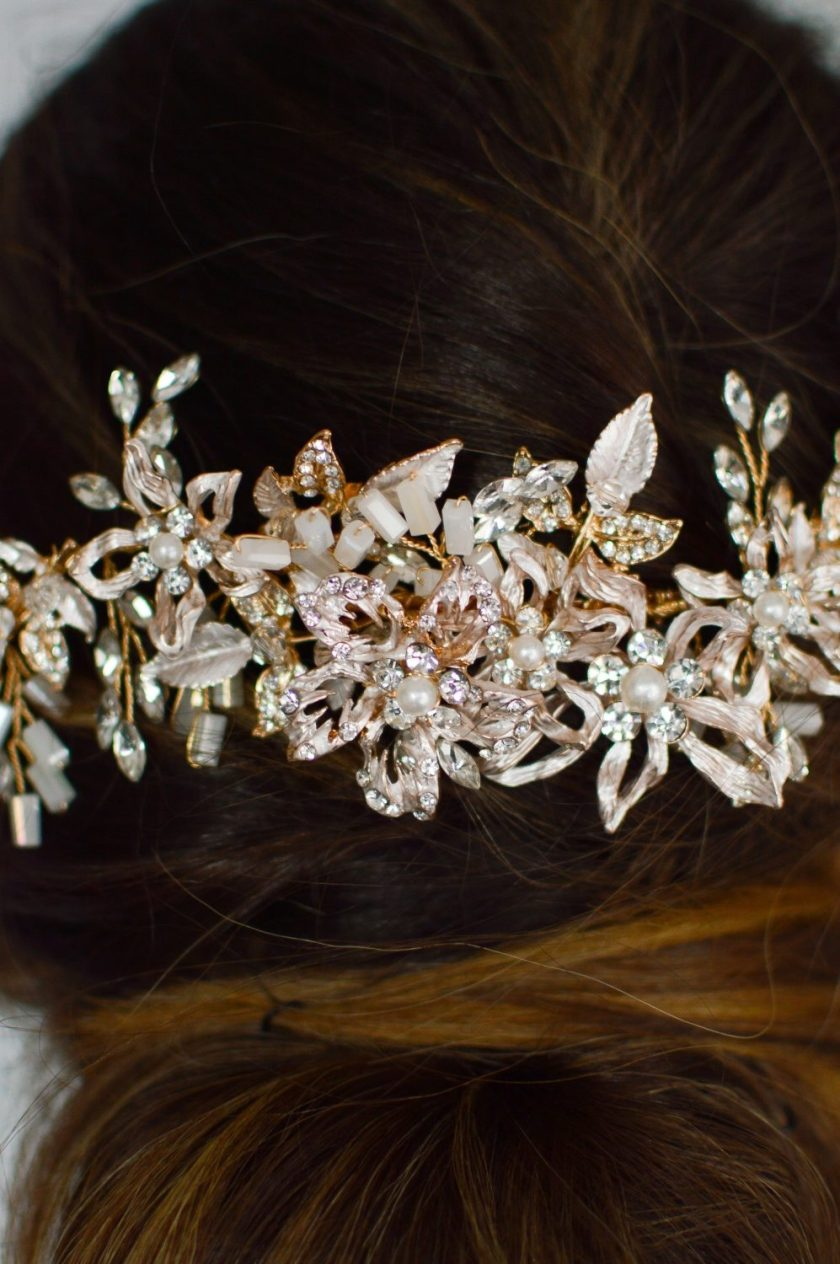 LP743 Rose gold metal hair comb by Linnzi Jay