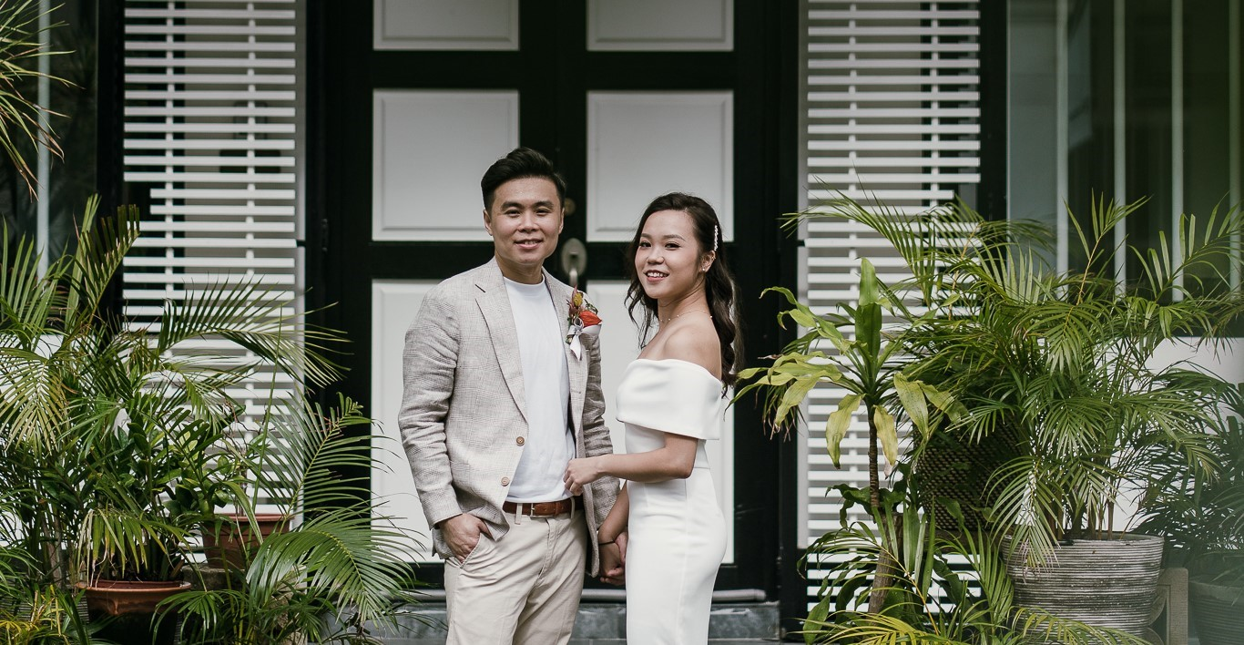 Couple married during pandemic