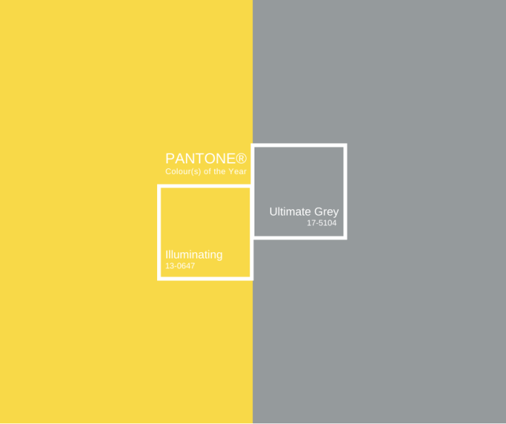 Pantone Colour of the Year – Illuminating & Ultimate Grey