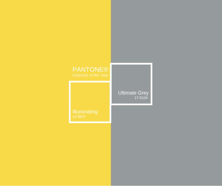 Pantone Colour of the Year – Illuminating & Ultimate Grey