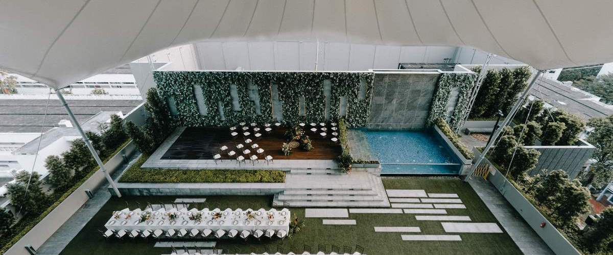 A Tropulence Wedding at Gateway Theatre's Sky Garden