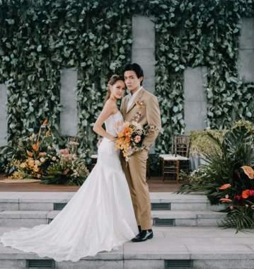 A Tropulence Wedding at Gateway Theatre's Sky Garden
