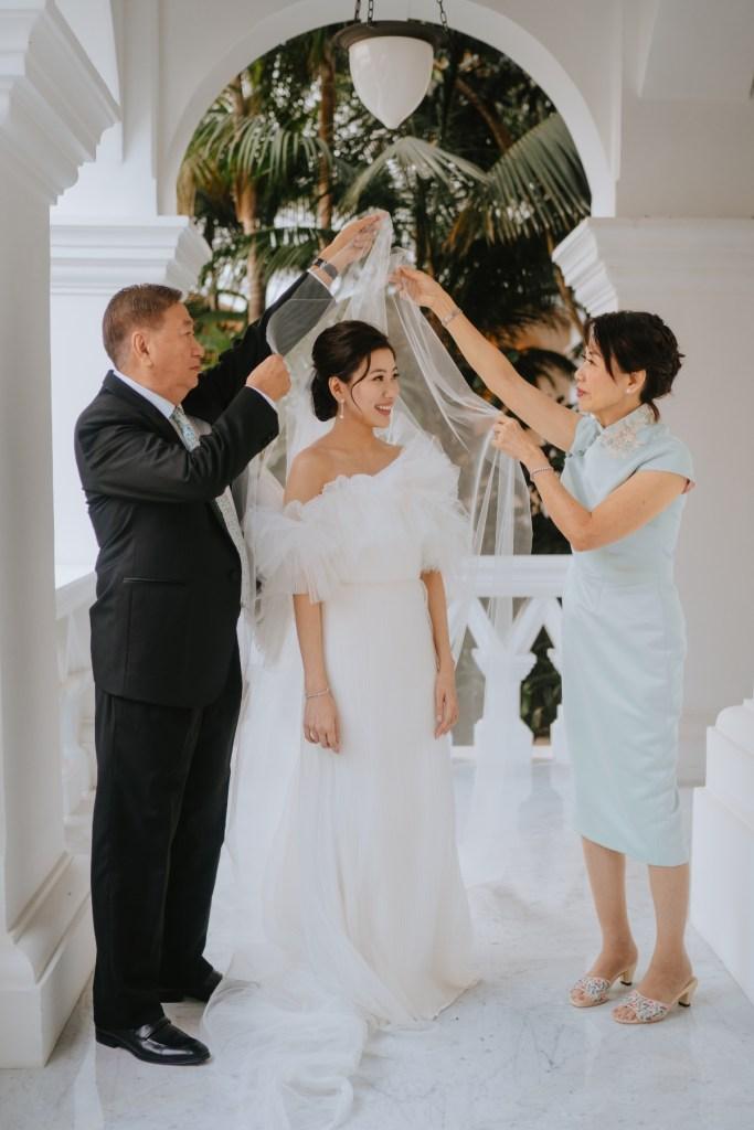 wedding at Raffles Hotel