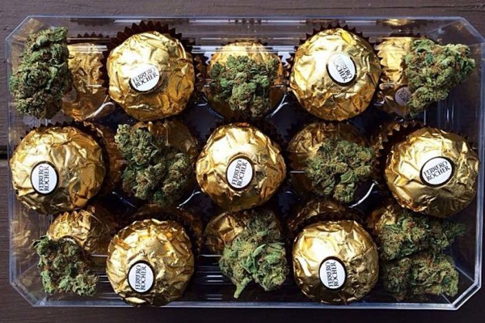 This year it's legal (in California) to give your sweetheart cannabis-infused chocolate