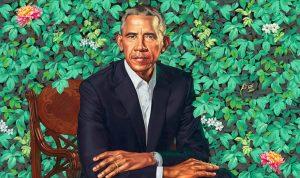 President Obama's new Smithsonian portrait is lit AF, says cannabis community