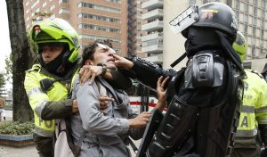 Riot police break up marijuana 'smoke-a-thon' in Colombia