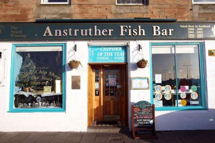 The Anstruther Fish Bar on a rare sunny & queue free day. Image: The Skinny