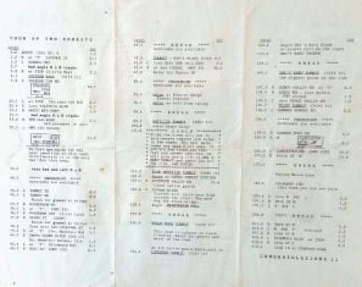 TOTF Route Slip 1980