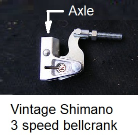 Vintage Shimano 3-speed bellcrank