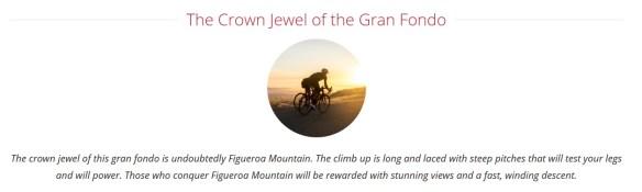 Figuero Mountain Gran Fondo Crown Jewel