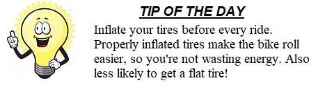 The Weekend Bicyclist Tip of the Day