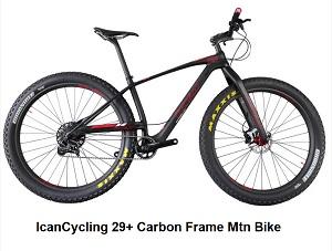 IcanCycling 29+ Carbon Frame Mtn Bike