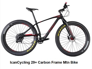 IcanCycling 29+ Carbon Frame Mtn Bike