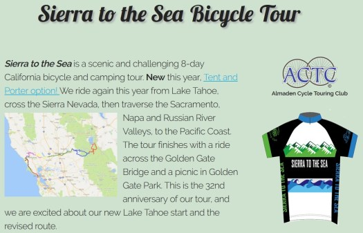 Sierra to the Sea Bike Tour