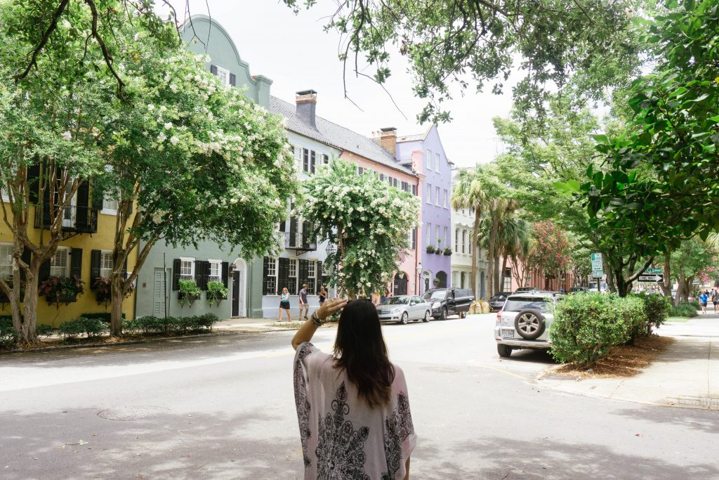 rainbow row, charleston sc, weekend in charleston