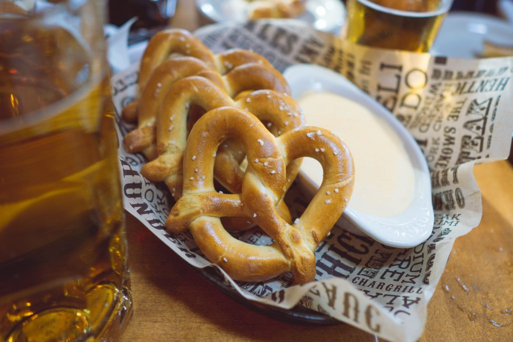 Smoky Mountain Brewery, pretzel and beer cheese