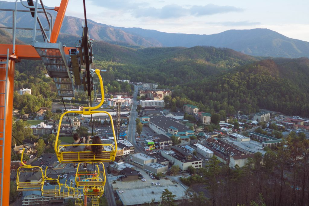 Gatlinburg, sky lift, mountain view