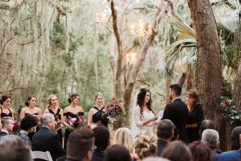 wedding vows, florida wedding, organic glam wedding