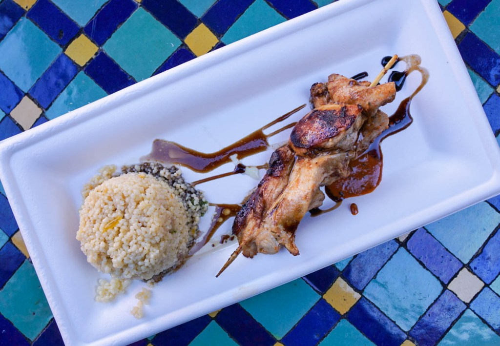 Epcot Flower and Garden Festival 2018, Taste of Marrakesh, Morocco, World Showcase, Food Favorites, Eat Around the World, Walt Disney World, Epcot Festival, What to Eat at Epcot, #disneytips #festivalfood #waltdisneyworld #disneyblogger