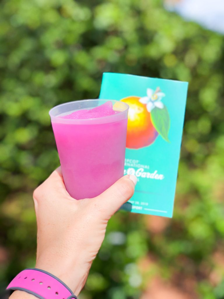 Epcot Flower and Garden Festival 2018, Pineapple Promenade, Violet Lemonade, Pineapple Beer Flight, Food Favorites, Eat Around the World, Walt Disney World, Epcot Festival, What to Eat at Epcot, #disneytips #festivalfood #waltdisneyworld #disneyblogger