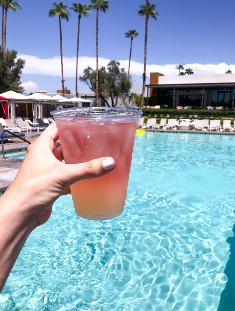 Andaz Scottsdale Turquoise Pool, Places to Stay in Scottsdale, Tequila Rose #travelblog #drinks