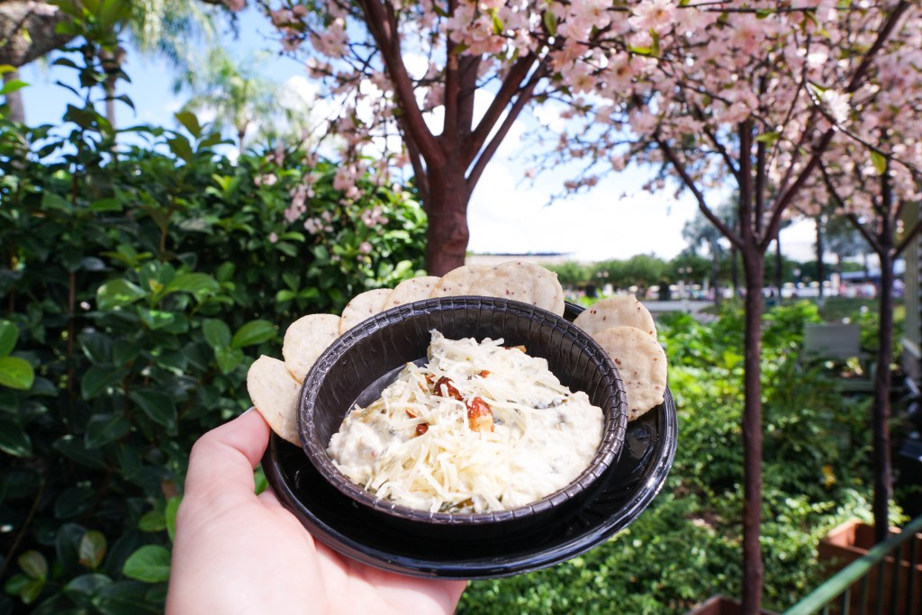 Epcot's Food & Wine Festival Almond Orchard - Spinach Artichoke Dip, Disney World