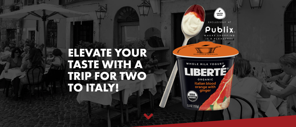 Liberté Italy Sweepstakes // Win a Trip to Italy, Blood Orange with Ginger Yogurt
