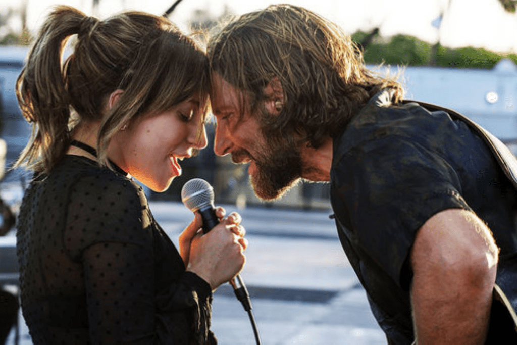 A Star is Born Movie Still, Bradley Cooper and Lady Gaga